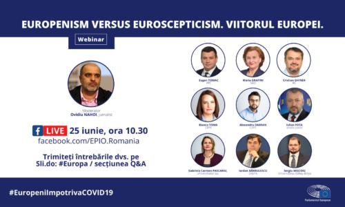 25 Iunie – Europenims vs. Euroscepticism. Viitorul Europei