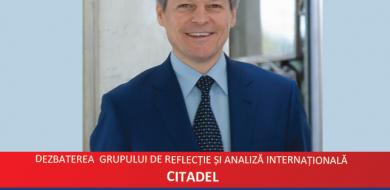 """CITADEL: Dacian Cioloș """"Uniunea Europeană post-Brexit şi locul României. De la scenarii la realităţi"""""""