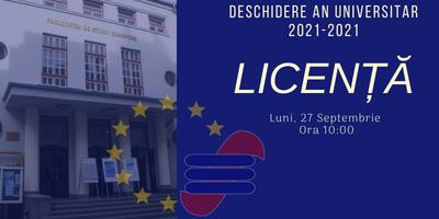 Licență – Deschiderea anului universitar 2021-2022