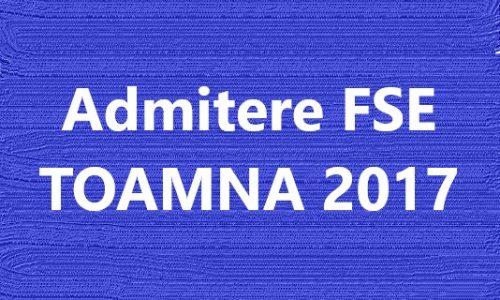 ADMITERE Toamna 2017 – Licență & Master