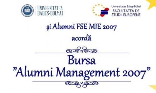 """A fost acordata prima Bursa """"Alumni Management 2007"""""""