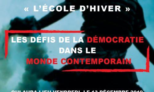 13 Dec 2019 – Ecole d'hiver pour les élèves francophones
