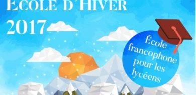 8 Dec – ÉCOLE D'HIVER 2017