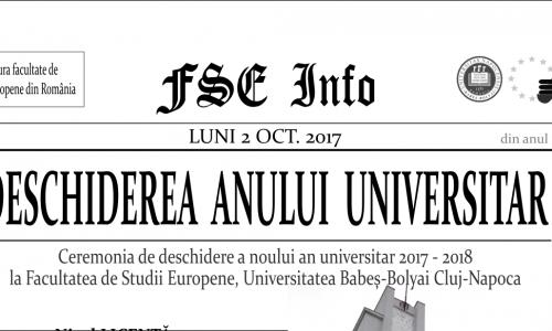 DESCHIDEREA ANULUI UNIVERSITAR 2017-2018 LA FSE
