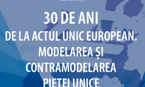 CONFERINȚĂ: 30 de ani de la Actul Unic European. Modelarea și contramodelarea pieței unice