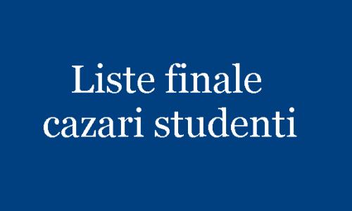 Liste finale – cazare in caminele studentesti