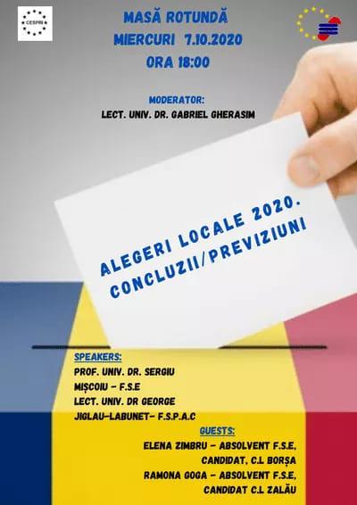 Masă rotundă – Alegeri Locale 2020. Concluzii/Previziuni