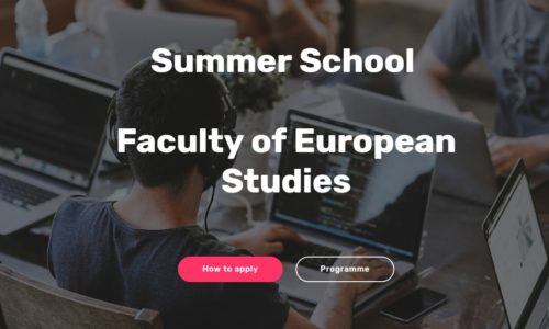 Summer School – Faculty of European Studies